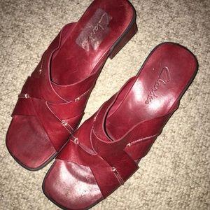 Clark Red Sandals/Slides Size 9 1/2